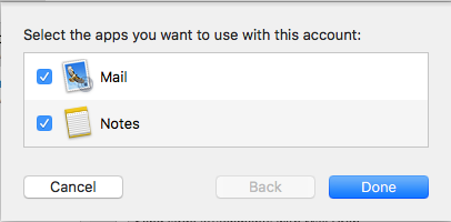 macOS select the apps settings.