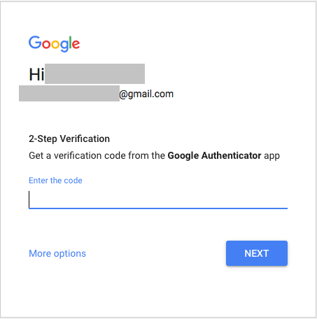 Gmail 2-step verrfication.