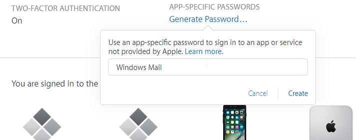 Apple ID 2-factor authentication page.